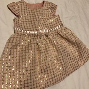 Pink/Gold Baby Dress, size 6-9 months